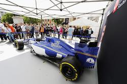 The Sauber C36 on the Sauber stand
