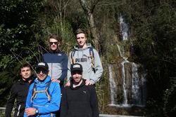 Bruno Spengler, Augusto Farfus, Marco Wittmann, Philipp Eng and Joel Eriksson, Hiking