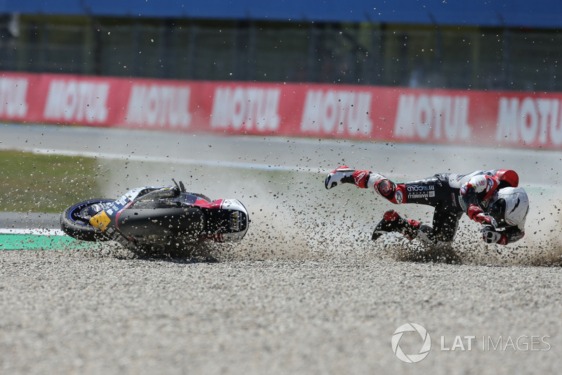 Crash of Romano Fenati, Marinelli Rivacold Snipers Team
