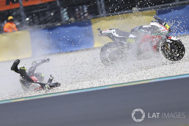 Choque de Cal Crutchlow, Team LCR Honda