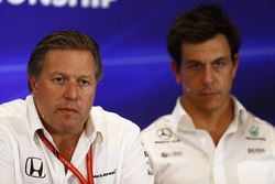 Zak Brown, Executive Director, McLaren Technology Group and Toto Wolff, Executive Director Mercedes AMG F1