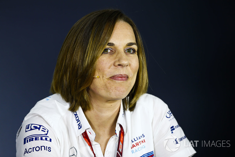 Claire Williams, Deputy Team Principal, Williams Martini Racing, in the team principals Press Conference