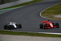 Sebastian Vettel, Ferrari SF71H and Sergey Sirotkin, Williams FW41