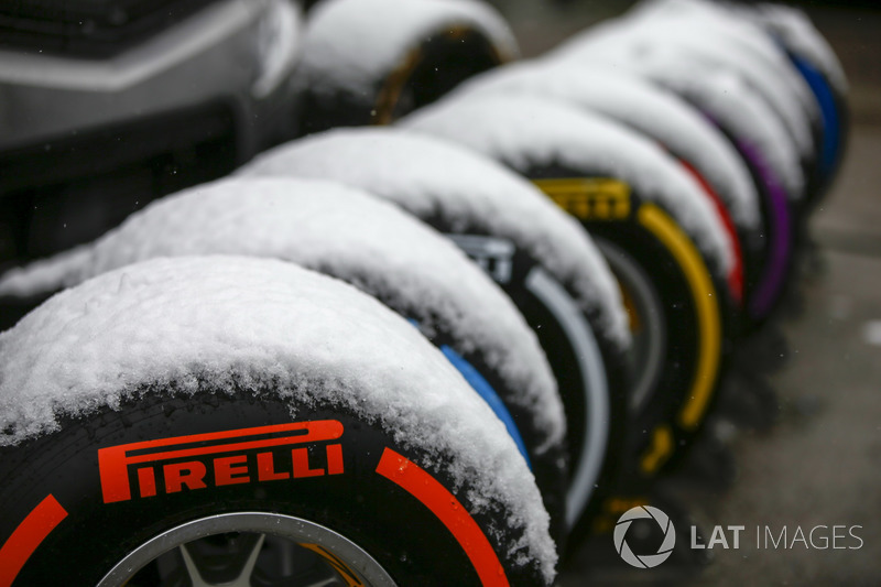 Neumáticos Pirelli cubiertos de nieve