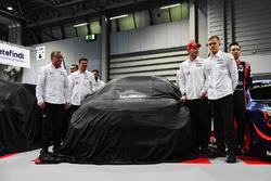 Le team Toyota WRC, avec Jari-Matti Lavala, Ott Tanak et Esapekka Lappi