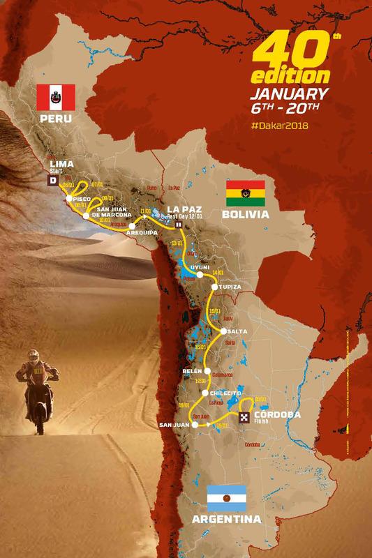 Rute Dakar 2018