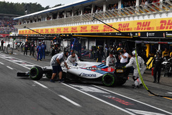 Lance Stroll, Williams FW41 retires from the race