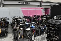 Calentadores de neumáticos de Force India F1