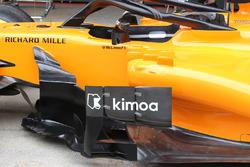 Vue détaillée de la McLaren MCL33