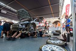 Обслуживание автомобиля Алексея Лукьянюка и Алексея Арнаутова, Ford Fiesta R5, Ралли Ипр