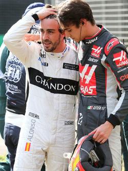 Эстебан Гутьеррес, Haas F1 Team и Фернандо Алонсо, McLaren
