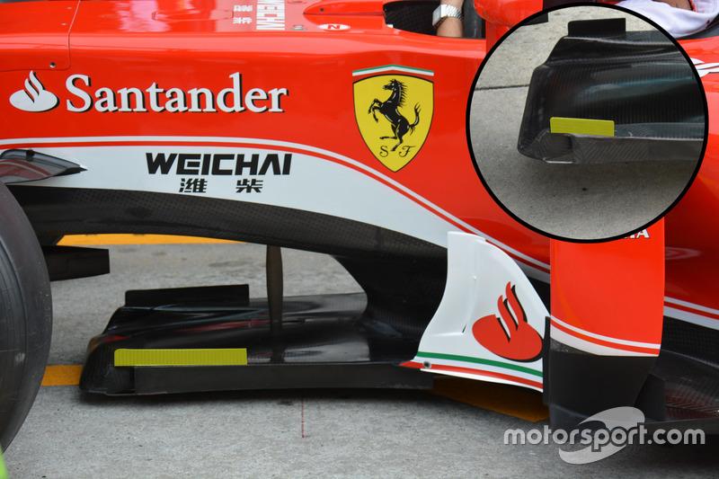 Ferrari SF16-H: Splitter