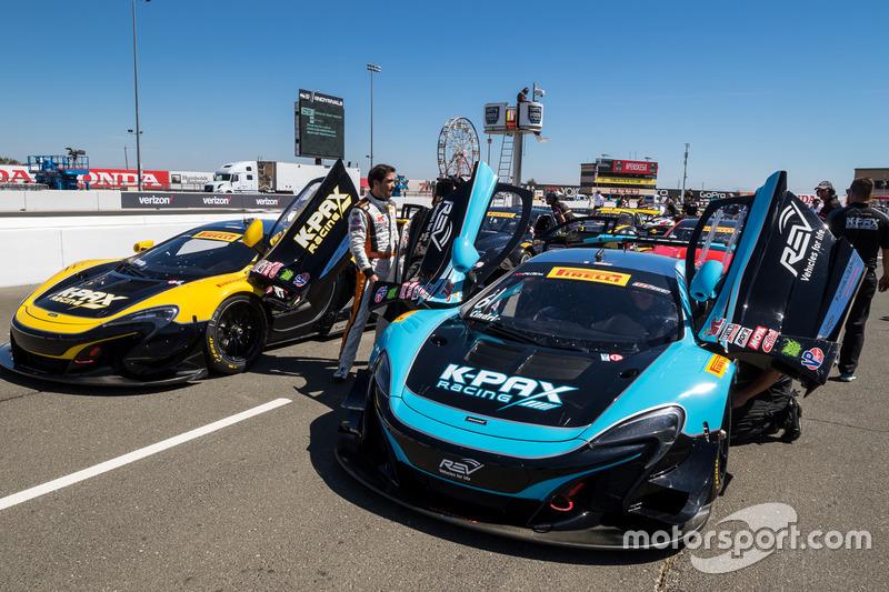 #6 K-Pax Racing McLaren 650S GT3: Austin Cindric, #9 K-Pax Racing McLaren 650S GT3: Alvaro Parente