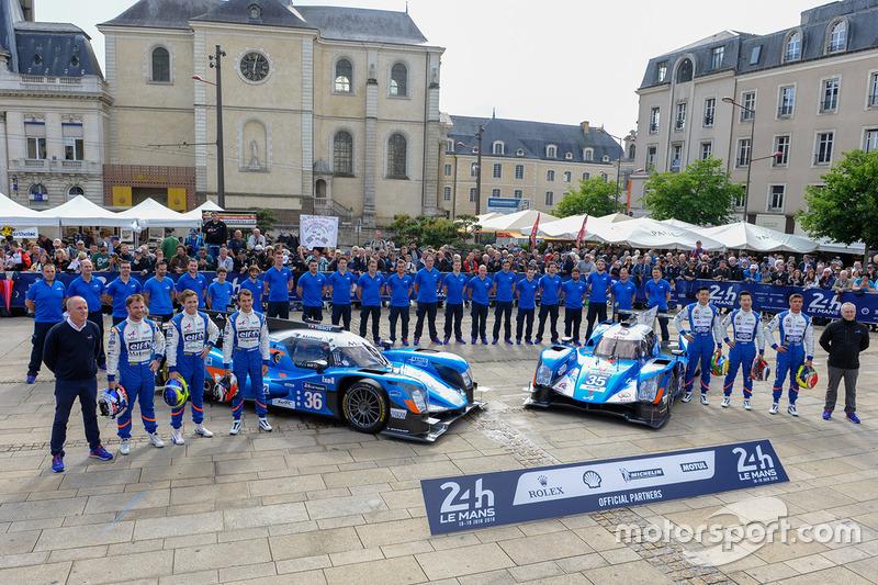 #36 Signatech Alpine A460: Густаво Менезес, Ніколя Лап'єрр, Стефан Рішельмі, #35 Baxi DC Racing Alpi