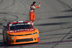 Kyle Larson, Chip Ganassi Racing, Chevrolet Camaro ENEOS celebrates his win