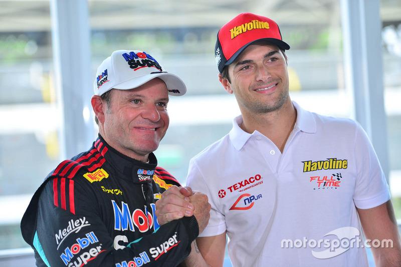 Rubens Barrichello dan Nelson Piquet Jr.