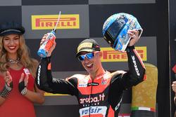 Podio: tercer lugar Marco Melandri, Aruba.it Racing-Ducati SBK Team