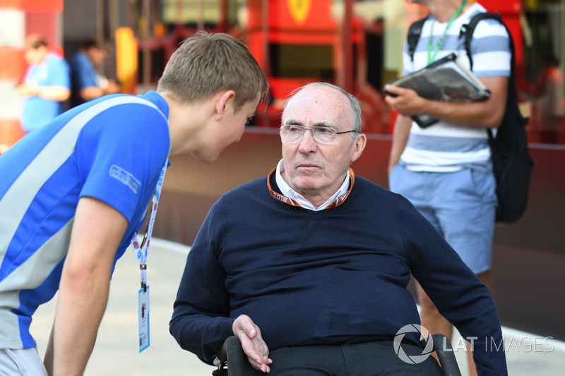 Frank Williams, propriétaire de Williams et Billy Monger