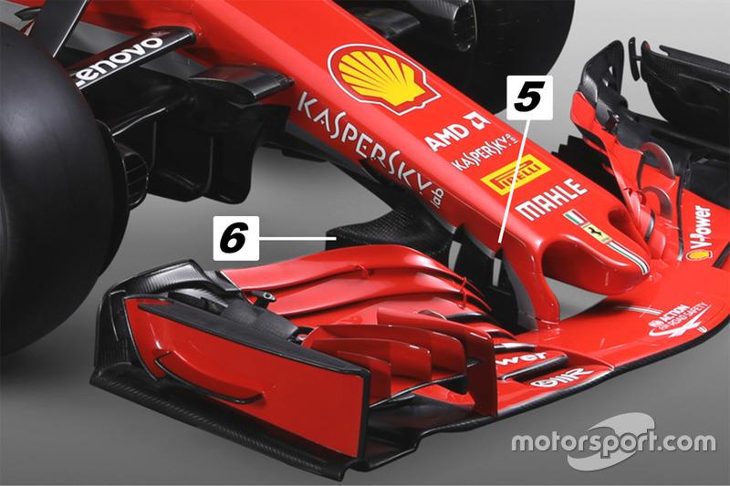 Ferrari SF71H: detalle del morro