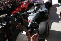 Ganador, Lewis Hamilton, Mercedes-Benz F1 W08  en parc ferme