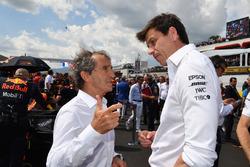Советник Renault Sport F1 Team Ален Прост и директор Mercedes AMG F1 Тото Вольф