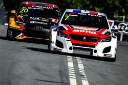 Aurélien Comte, DG Sport Competition Peugeot 308TCR, Denis Dupont, Comtoyou Racing Audi RS 3 LMS