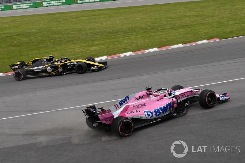 Разворот: Серхио Перес, Sahara Force India F1 VJM11