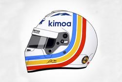 Helmdesign von Fernando Alonso für die 24h Daytona 2018