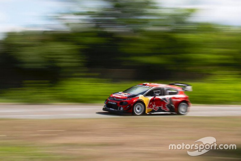 Valtteri Bottas testet WRC-Citroen