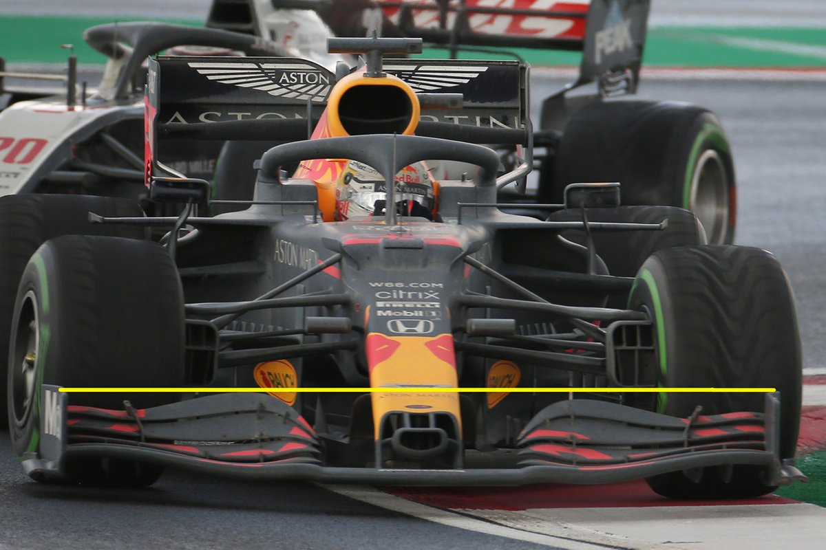 More details of the Red Bull's front wing