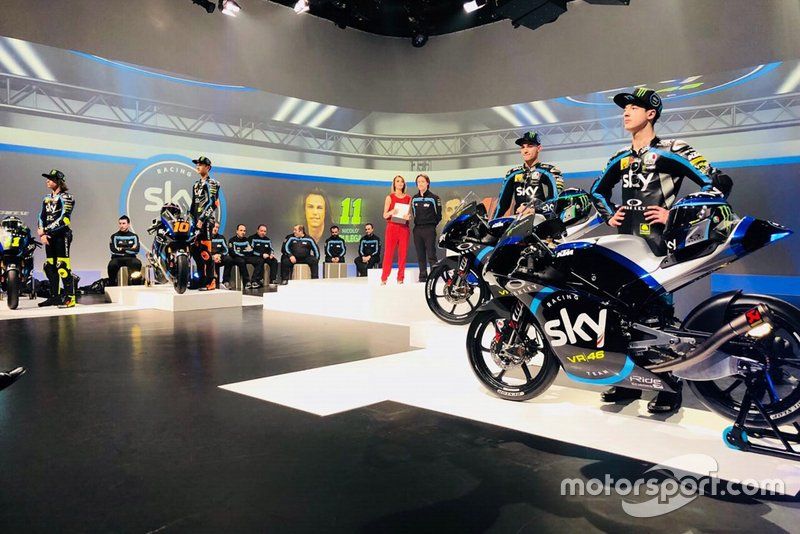Atmosfera alla presentazione dello Sky Racing Team VR46