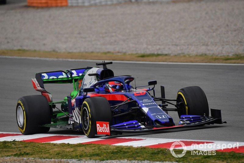 Daniil Kvyat, Scuderia Toro Rosso STR14, avec de la peinture aéro