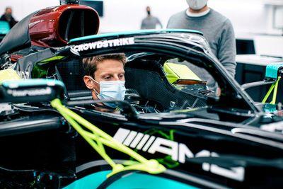 Grojean Mercedes testing