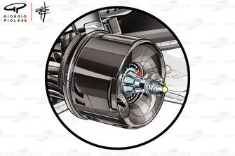 Écope de frein arrière de la Mercedes AMG F1 W09
