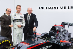 Jenson Button, McLaren, Ron Dennis, McLaren Technology Group Chairman and CEO and Richard Mille, Cha