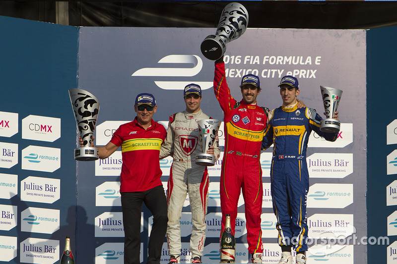Podium: 1. Lucas di Grassi, ABT Schaeffler Audi Sport; 2. Jérôme d'Ambrosio, Dragon Racing; 3. Sébastien Buemi, Renault e.Dams
