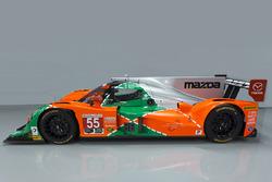 Imagen especial del #55 Mazda celebra el 25 aniversario de la victoria de Mazda en Le Mans