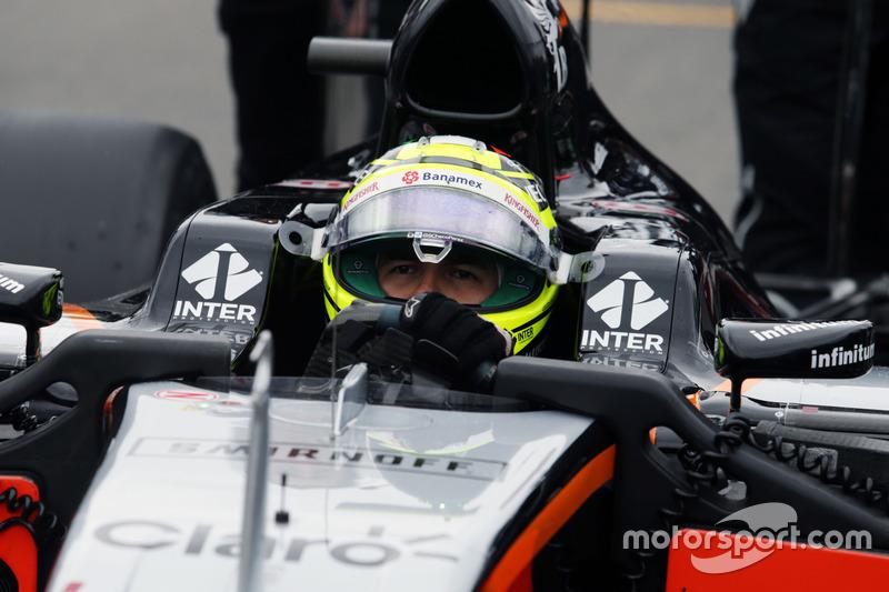 Серхіо Перес, Sahara Force India F1 VJM09 на стартовій решітці