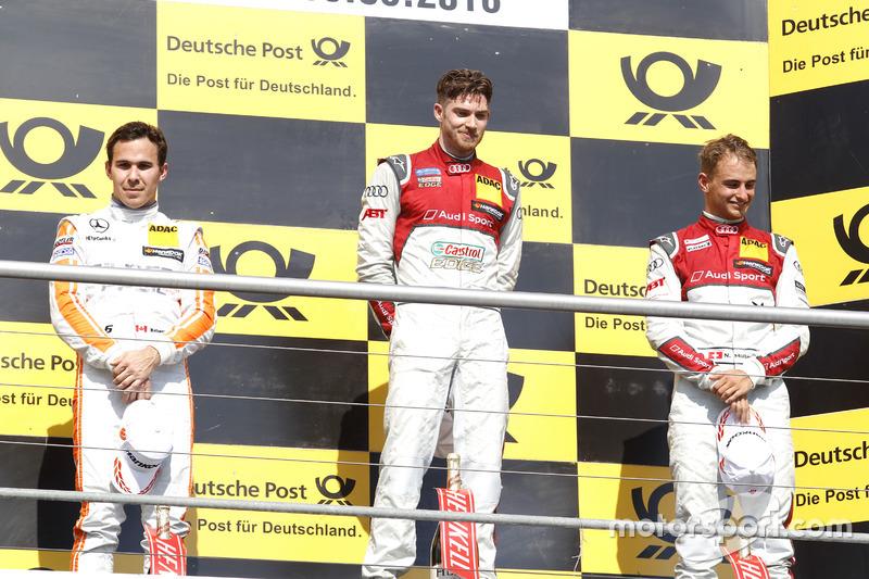 1. Edoardo Mortara, 2. Robert Wickens, 3. Nico Müller