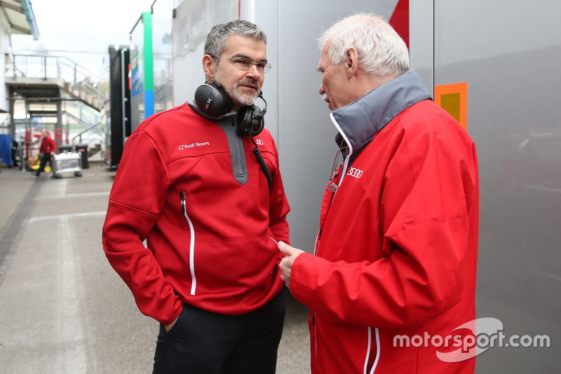 Dieter Gass, Head of DTM at Audi Sport and Ulrich Baretzky, Audi Sport