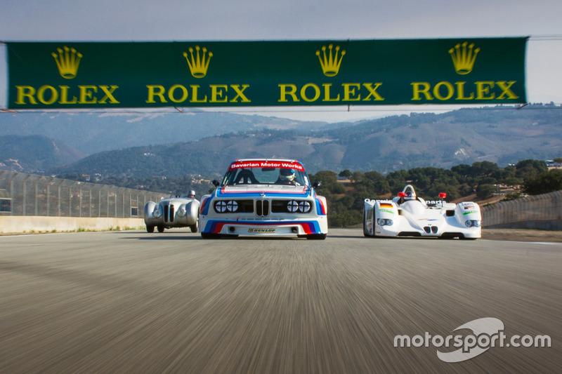Foto di gruppo BMW girando per Laguna Seca