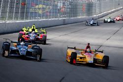Ed Carpenter, Ed Carpenter Racing Chevrolet, Ryan Hunter-Reay, Andretti Autosport Honda