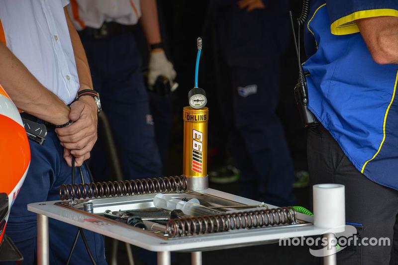 Repsol Honda Team garage, dettaglio