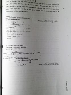 Контракт Айртона Сенни та Lotus