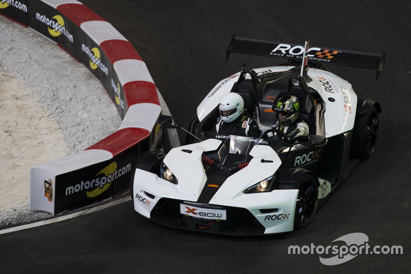 Petter Solberg, driving the KTM X-Bow Comp R