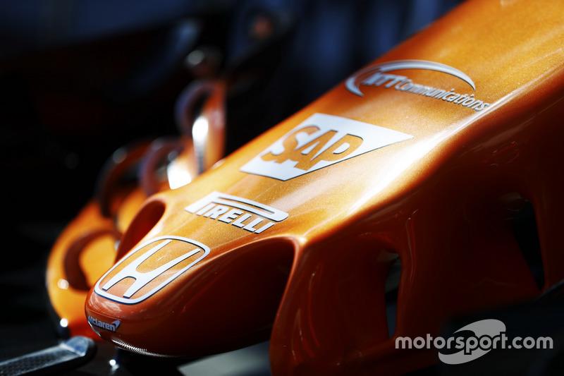 McLaren MCL32: Nase mit Honda-Logo
