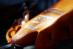 Honda logo and nose detail of a McLaren MCL32