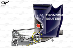Williams FW33 gearbox, captioned