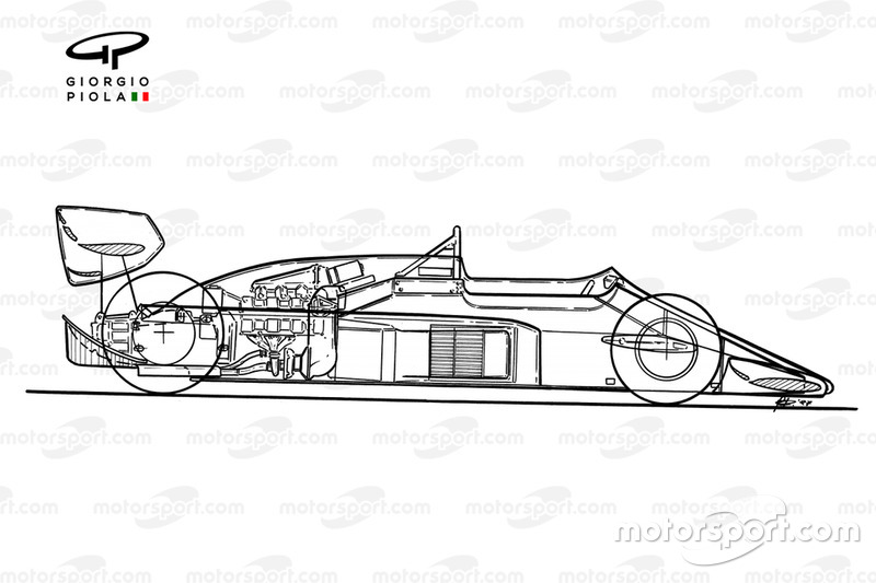 Lotus 99T 1987 detailed side view