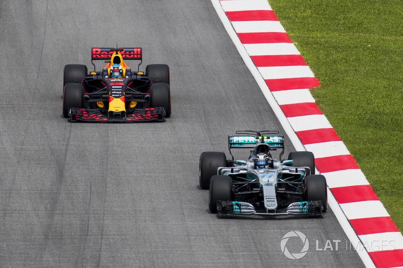 Валттері Боттас, Mercedes AMG F1 W08, Даніель Ріккардо, Red Bull Racing RB13